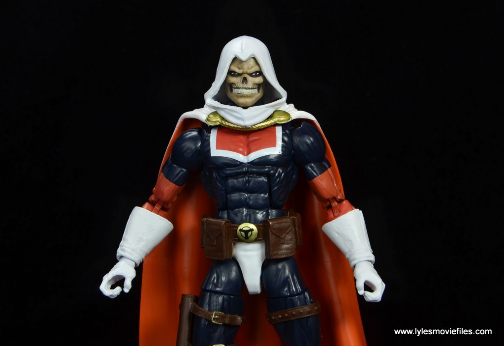 marvel legends taskmaster figure review - wide pic