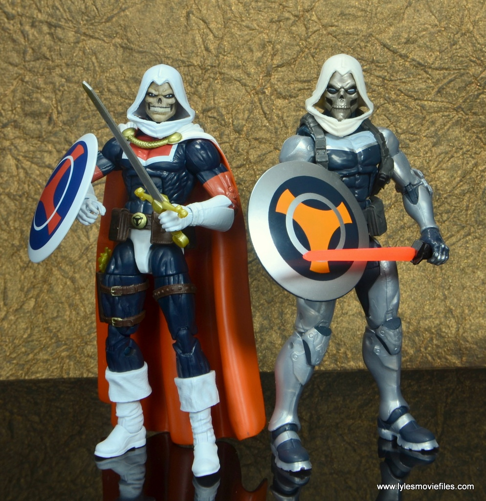 marvel legends taskmaster figure review - with earlier hasbro taskmaster