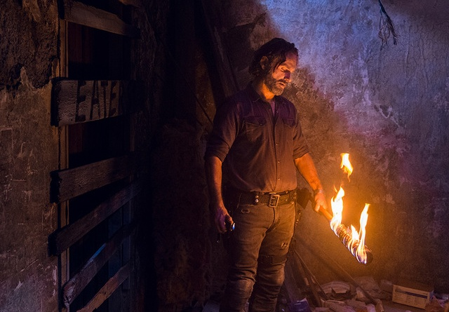 the walking dead the key review -rick and flaming lucille