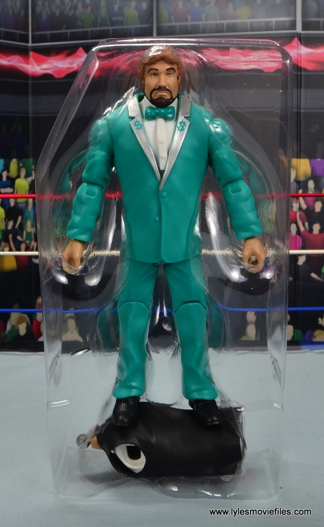 wwe million dollar man figure review -accessories in tray