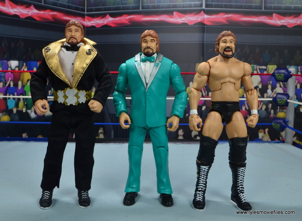 wwe million dollar man figure review -scale with eg dibiase and hall of fame ted dibiase