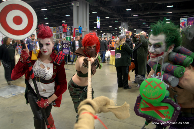 awesome con 2018 cosplay -harley quinn, poison ivy and joker