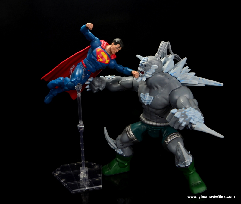 dc multiverse superman rebirth figure review - fighting doomsday