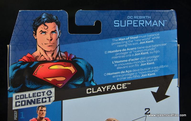 dc multiverse superman rebirth figure review - package bio