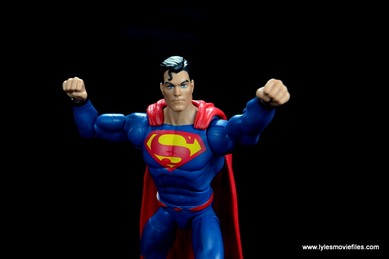 dc multiverse superman rebirth figure review - straight ahead