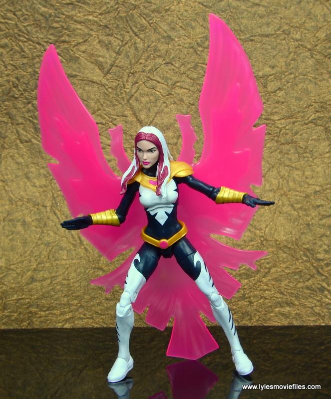 marvel legends songbird figure review - crouching with bird effect