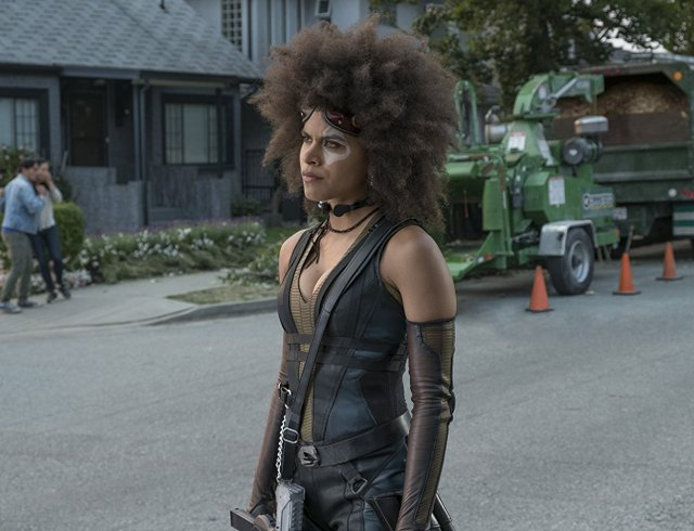 deadpool movie review - domino