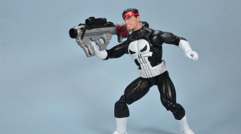 marvel legends the punisher retro figure review - with bazooka