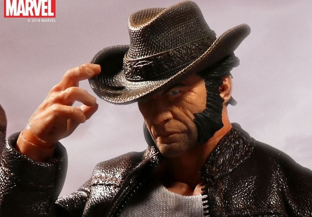 mezco toyz one collective logan figure -tipping hat