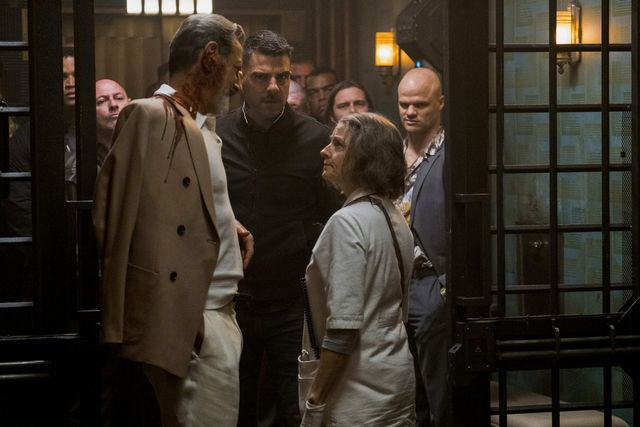 hotel artemis review - jeff goldblum, zachary quinto and jodie foster