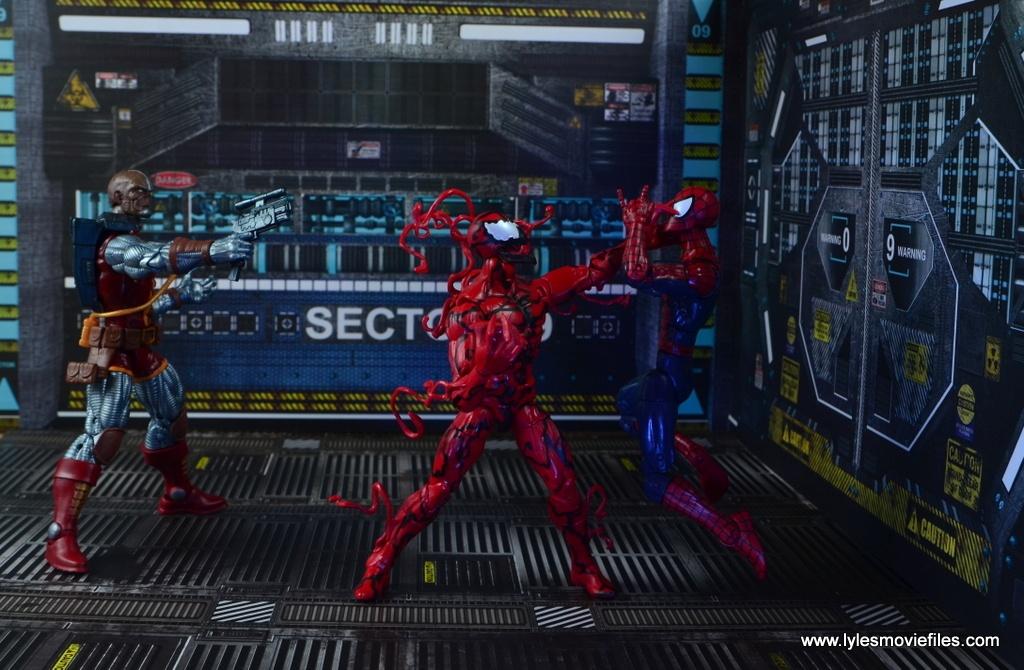marvel legends deathlok figure review - helping spider-man vs carnage