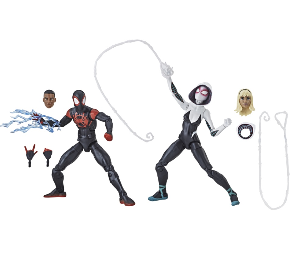 marvel legends into the spider-verse miles and gwen