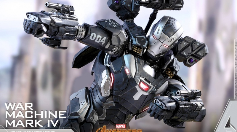 hot toys avengers infinity war war machine figure -aiming