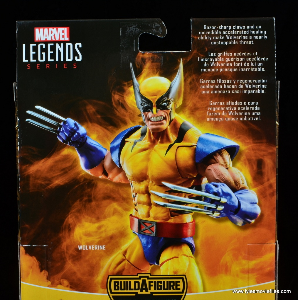 marvel legends wolverine figure review - package bio