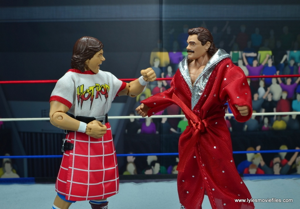 wwe hall of fame rowdy roddy piper figure review - face off with rick rude
