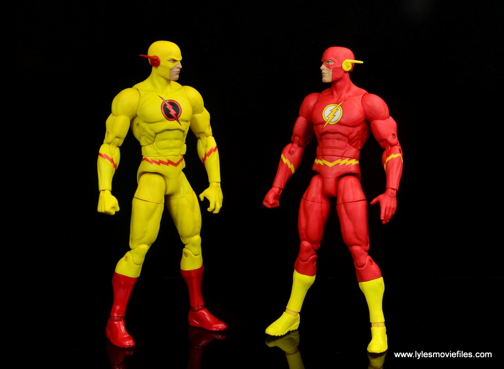 dc essentials reverse-flash figure flash - face off with the flash