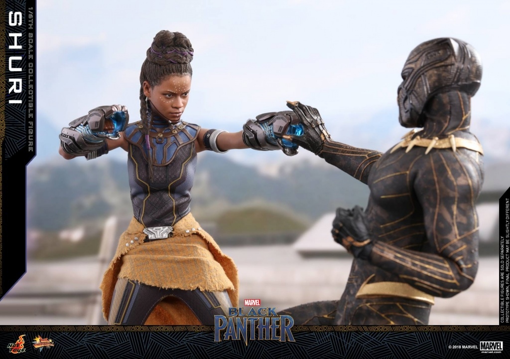 hot toys black panther shuri figure -fighting killmonger