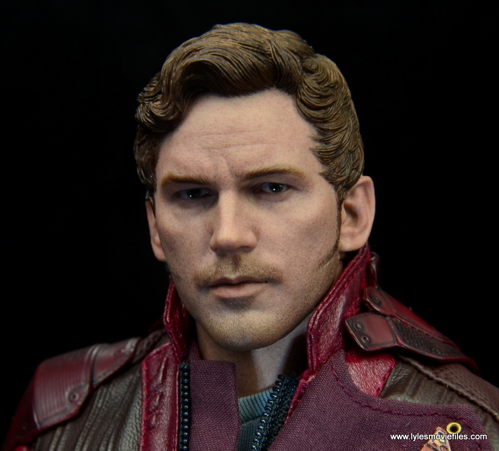 hot toys guardians of the galaxy vol. 2 star-lord figure review -head detail