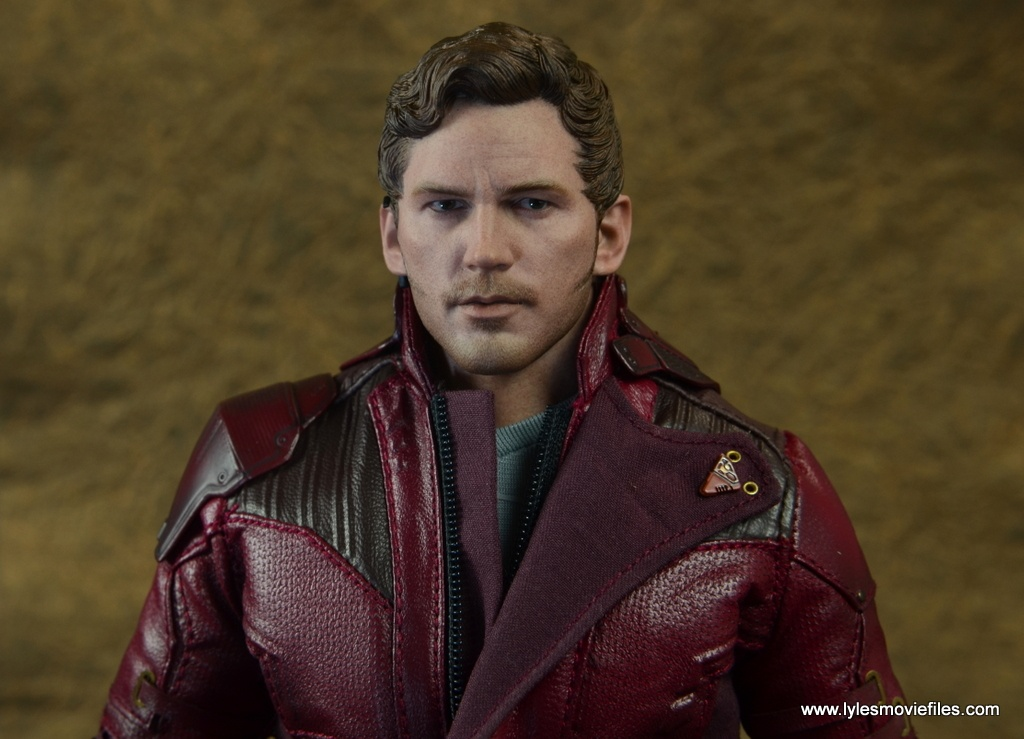 hot toys guardians of the galaxy vol. 2 star-lord figure review head detail