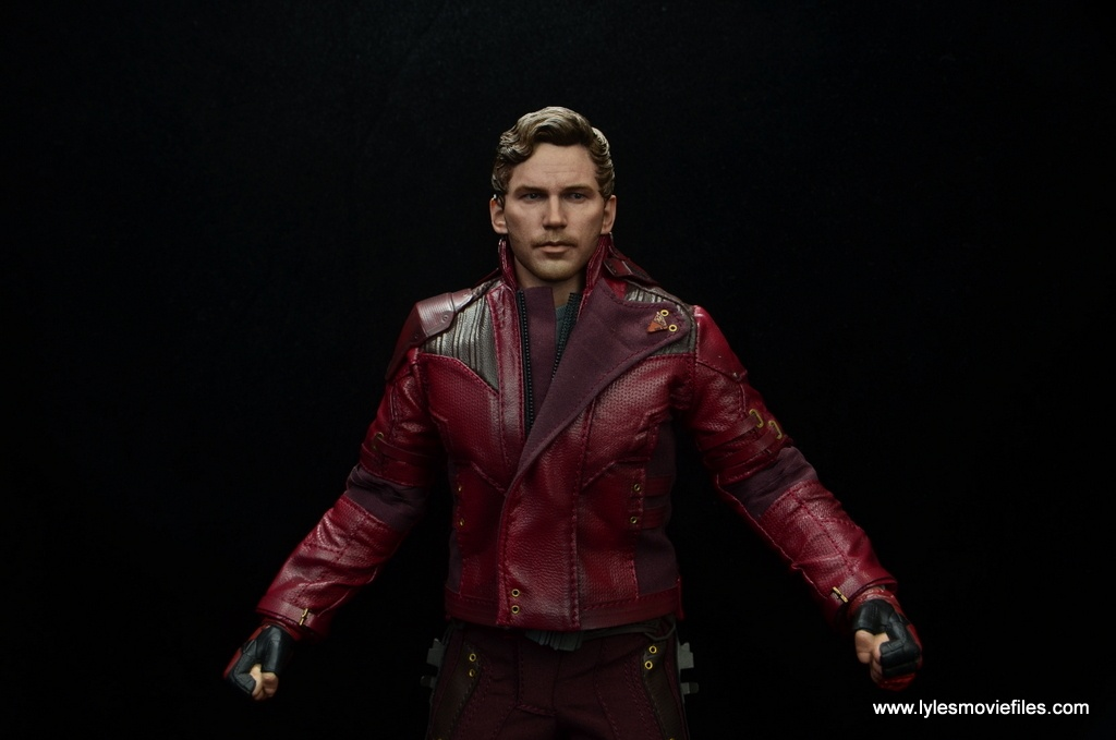 hot toys guardians of the galaxy vol. 2 star-lord figure review jacket zipped up