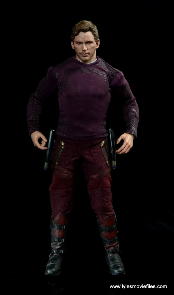 hot toys guardians of the galaxy vol. 2 star-lord figure review purple shirt