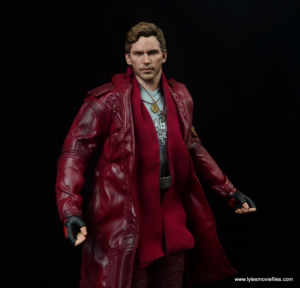 hot toys guardians of the galaxy vol. 2 star-lord figure review trench coat flowing