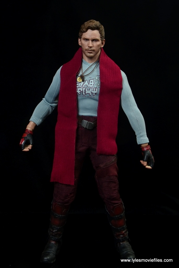 hot toys guardians of the galaxy vol. 2 star-lord figure review -with scarf