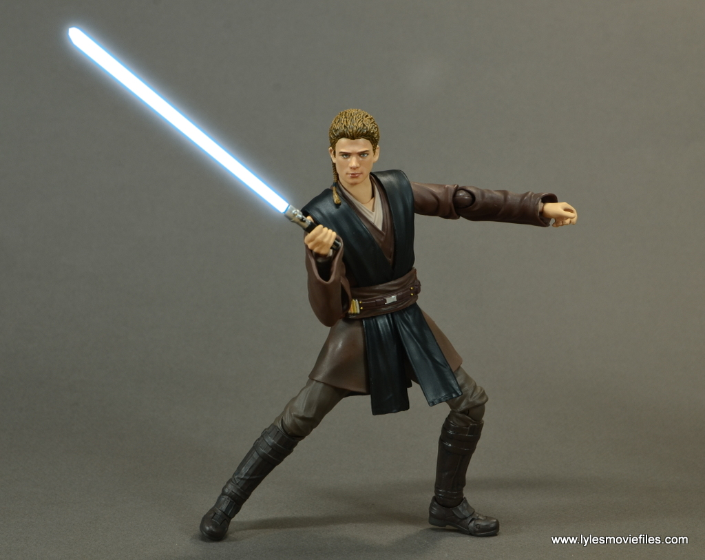 sh figuarts anakin skywalker figure review - action stance lightsaber