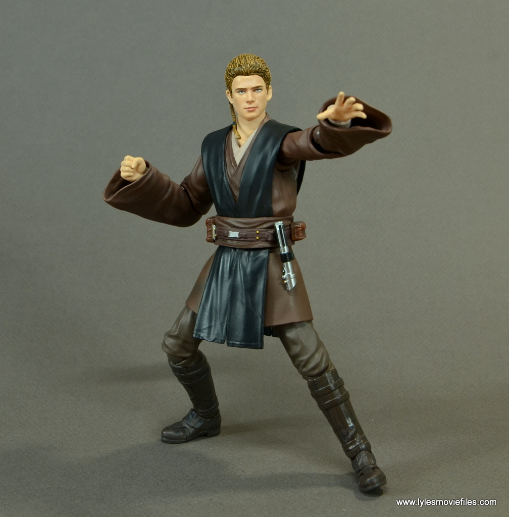 sh figuarts anakin skywalker figure review - force gesturing