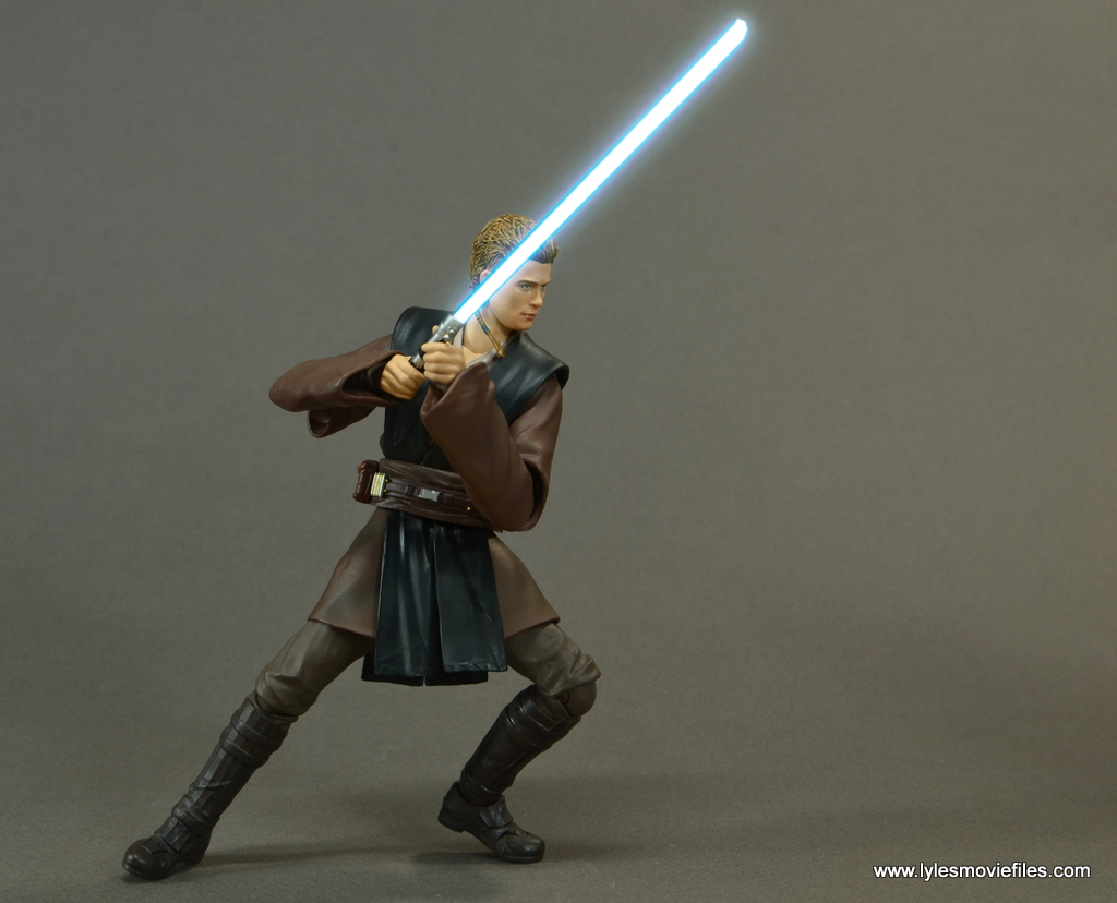 sh figuarts anakin skywalker figure review -on guard lightsaber