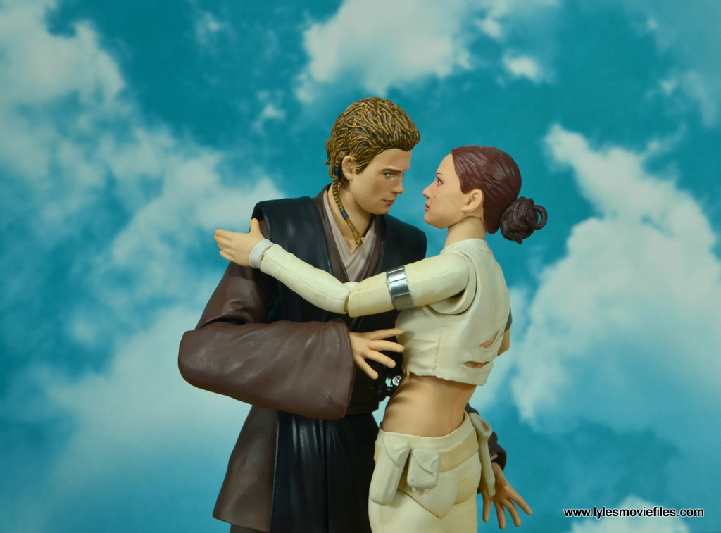 sh figuarts anakin skywalker figure review -with padme