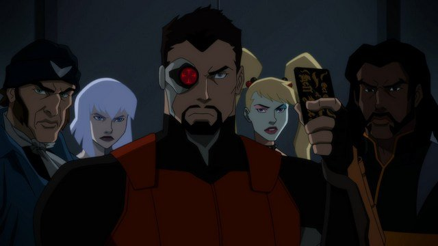 suicide squad hell to pay - captain boomerang, killer frost, deadshot, harley quinn and bronze tiger