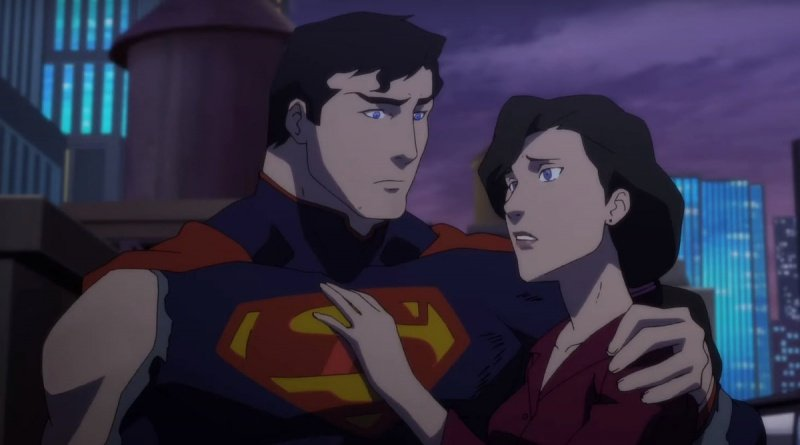 the death of superman movie review - superman and lois lane