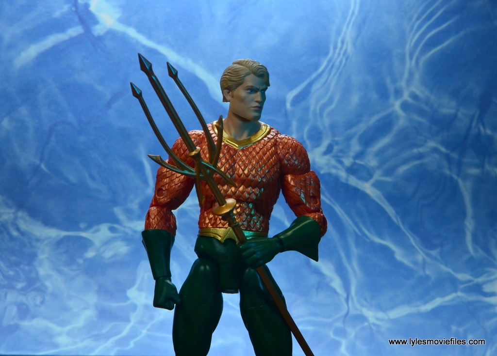 dc essentials aquaman action figure review - in the sea