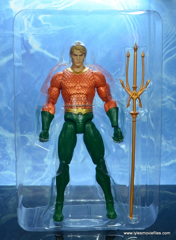 dc essentials aquaman action figure review - in tray