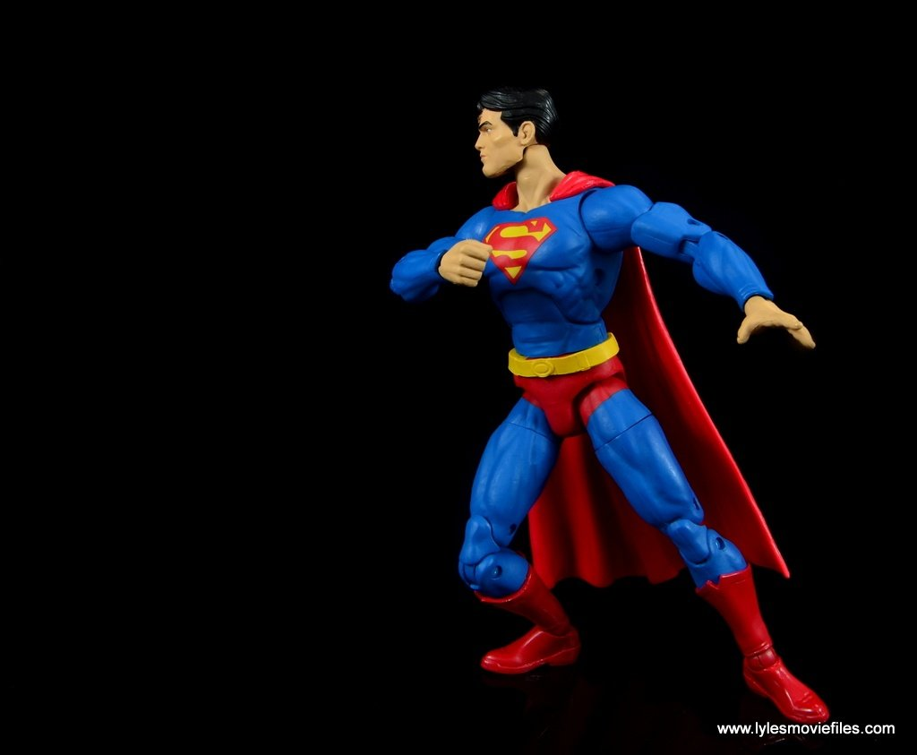dc essentials superman review - about to fly off