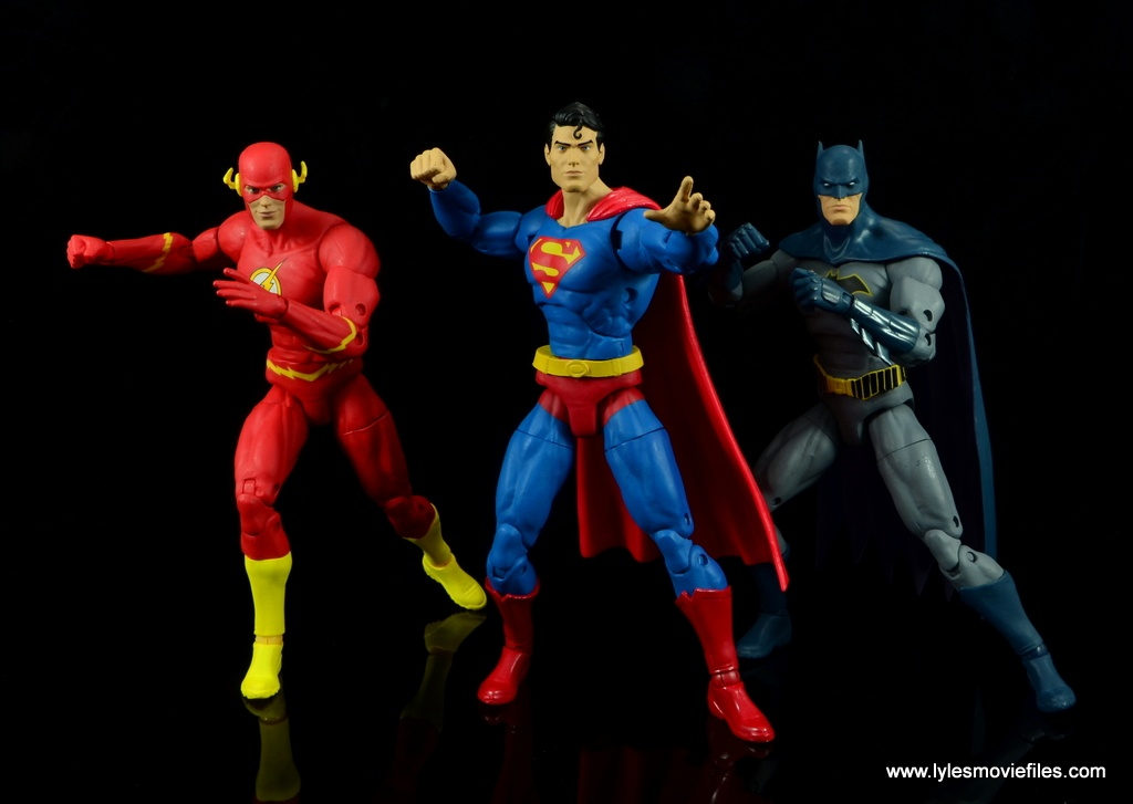 dc essentials superman review - ready for action with flash and batman