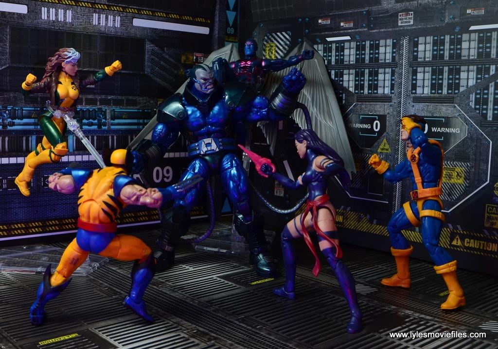marvel legends baf apocalypse figure review -battling the x-men