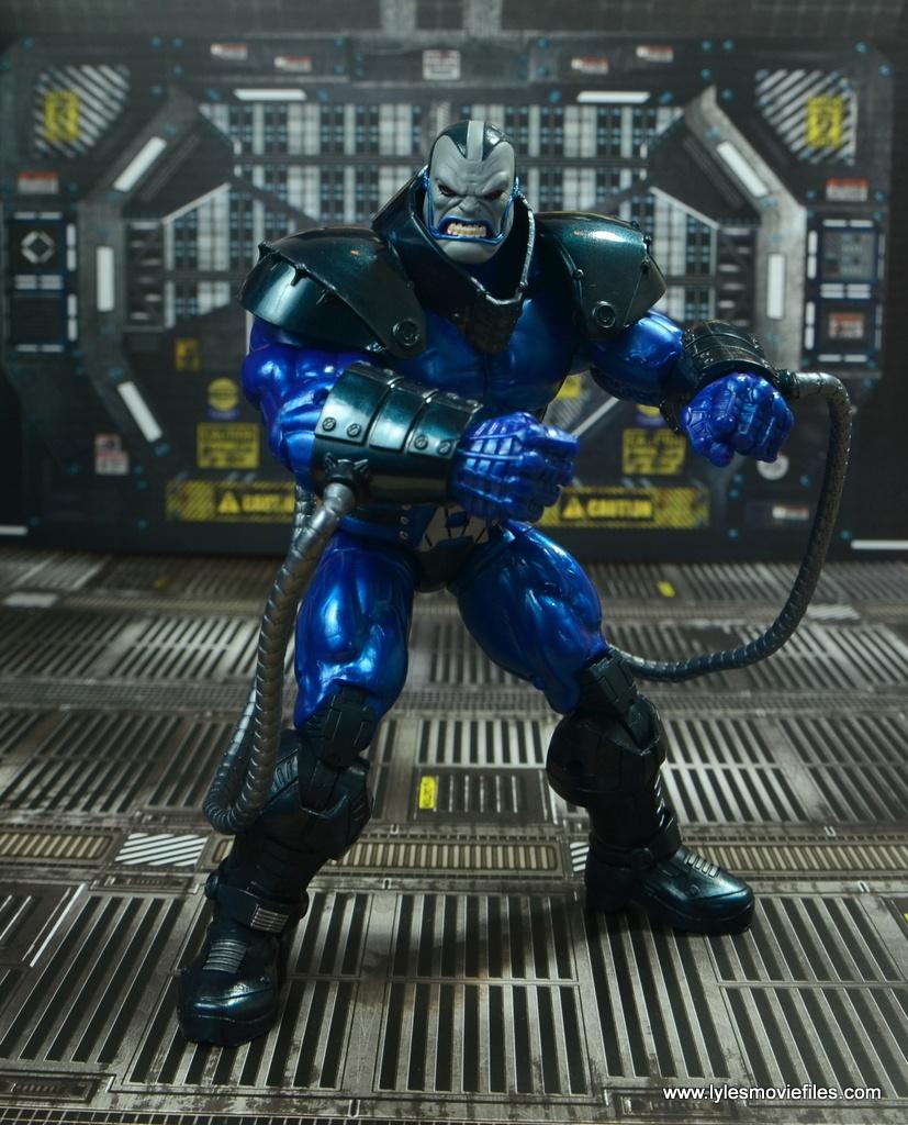 marvel legends baf apocalypse figure review -flexing