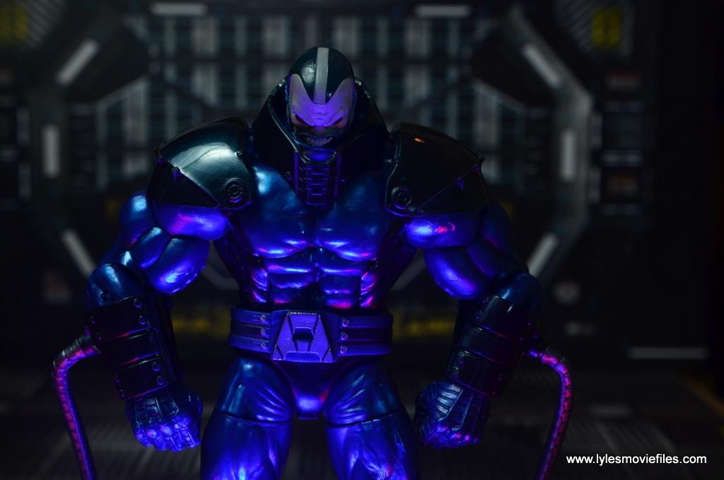 marvel legends baf apocalypse figure review -preparing for battle