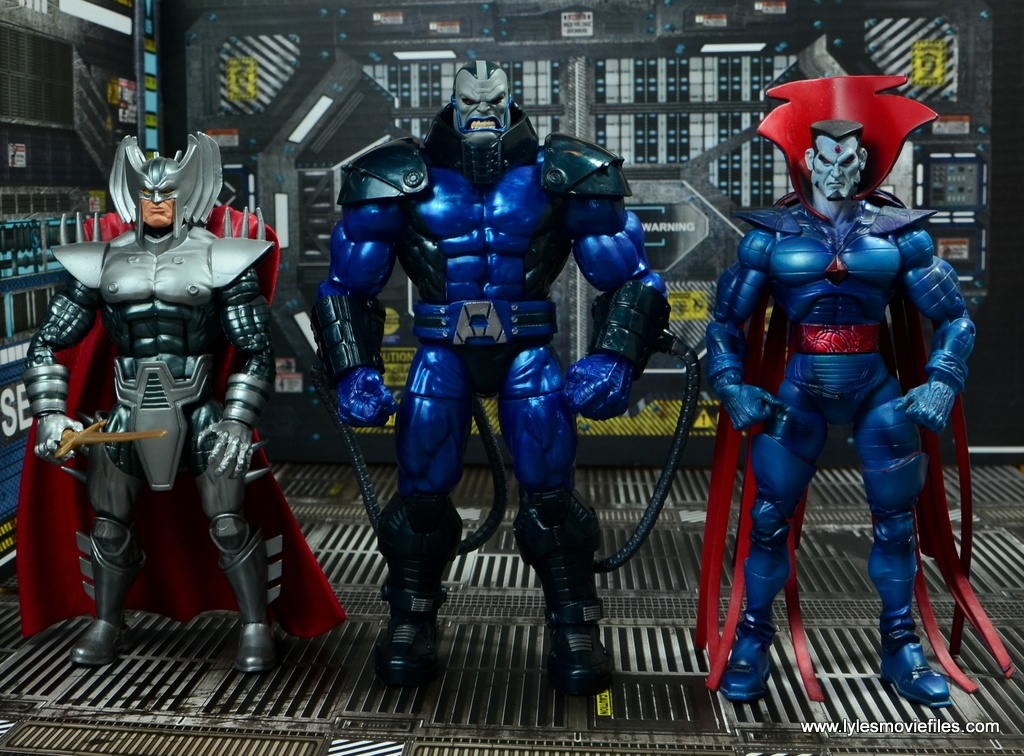 marvel legends baf apocalypse figure review -scale with stryfe and mister sinister