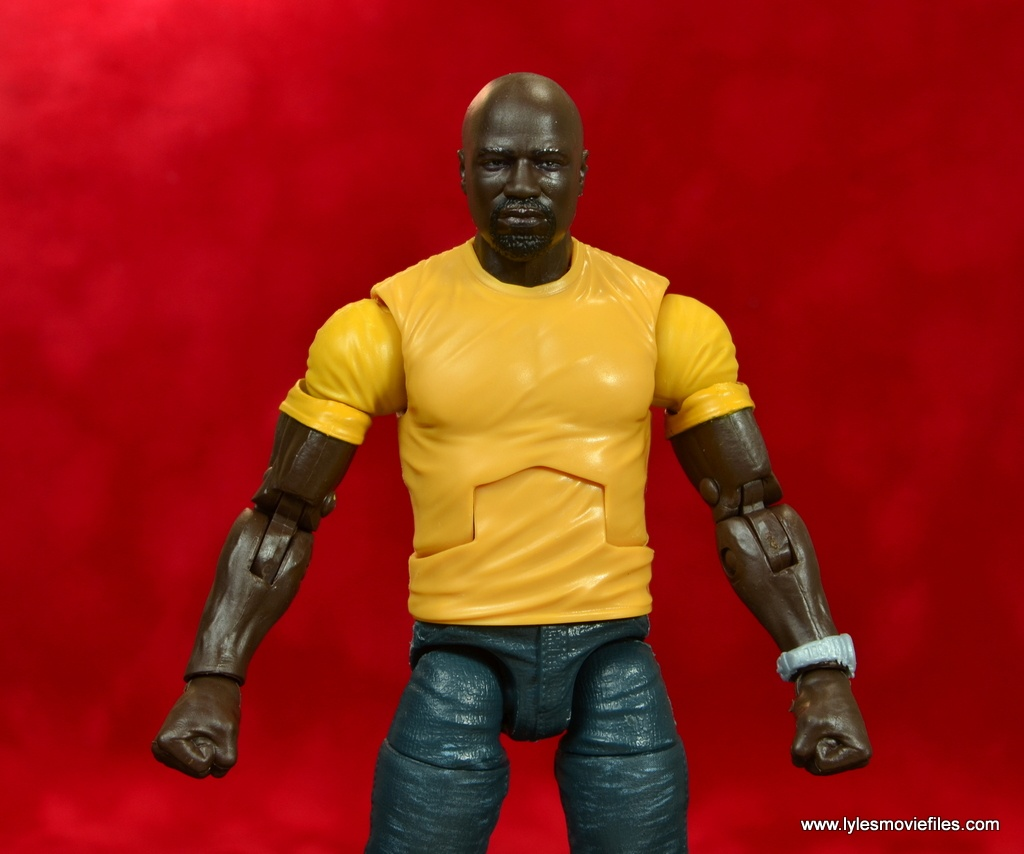 marvel legends luke cage and claire figure review - cage wide