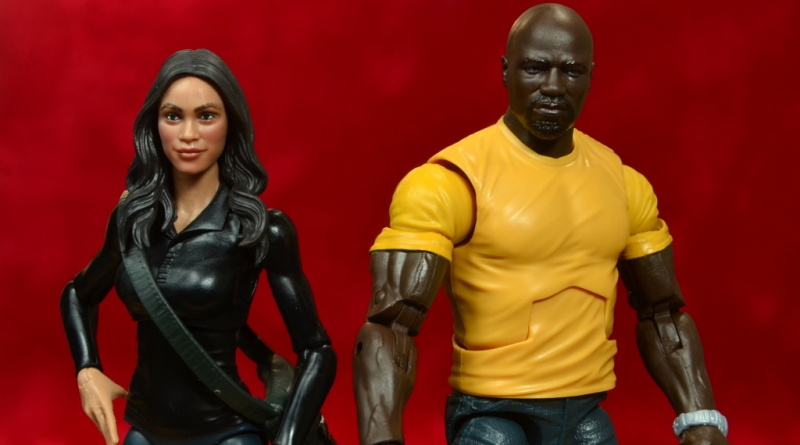 marvel legends luke cage and claire figure review -claire and cage main pic