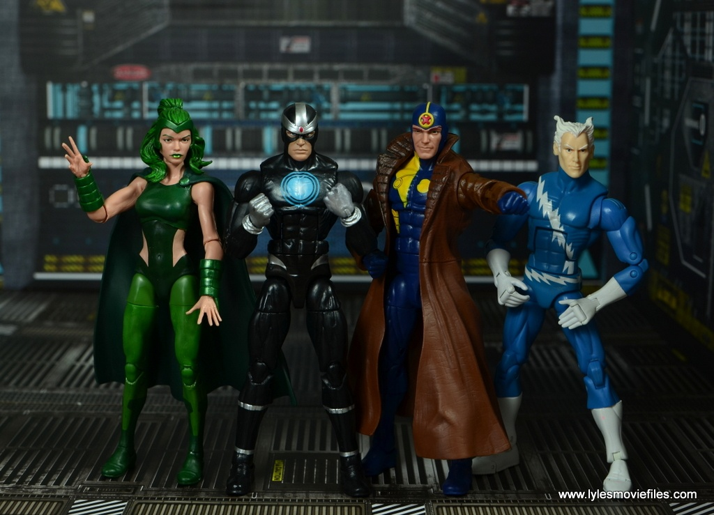 marvel legends multiple man figure review - scale with polaris, havok, multiple man and quicksilver