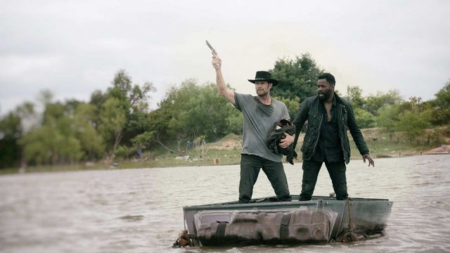 fear the walking dead blackjack review - john and strand on raft