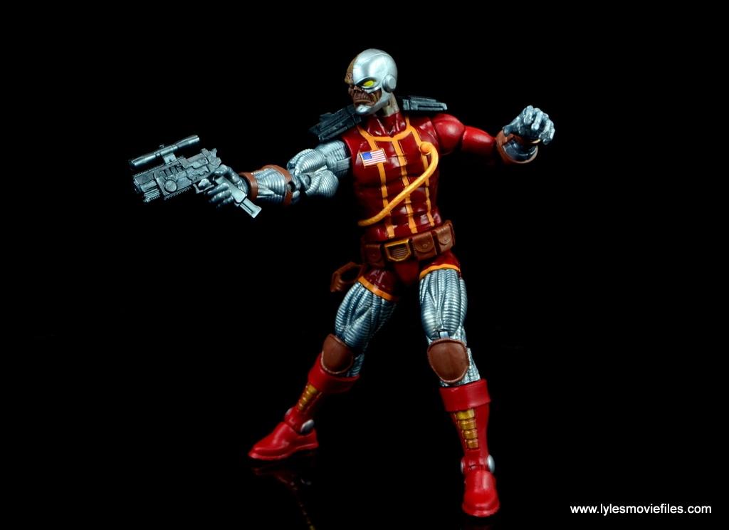 marvel legends deathlok figure review - aiming gun