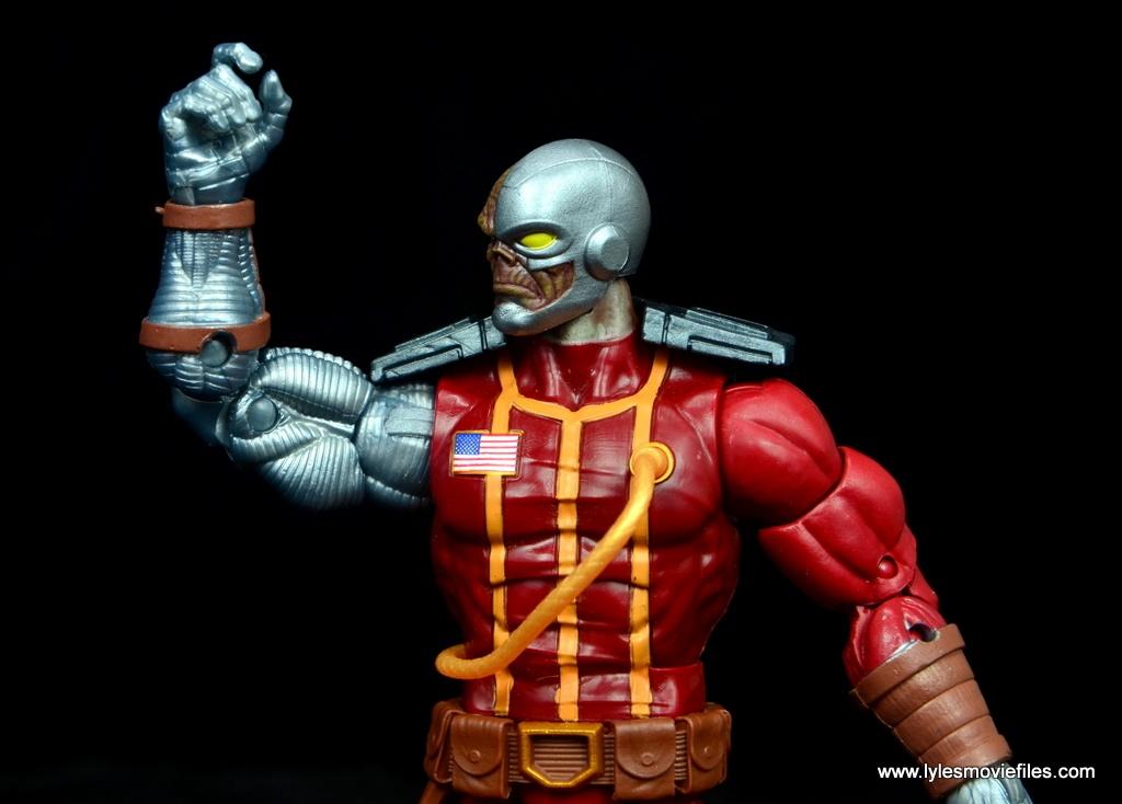 marvel legends deathlok figure review - elbow range