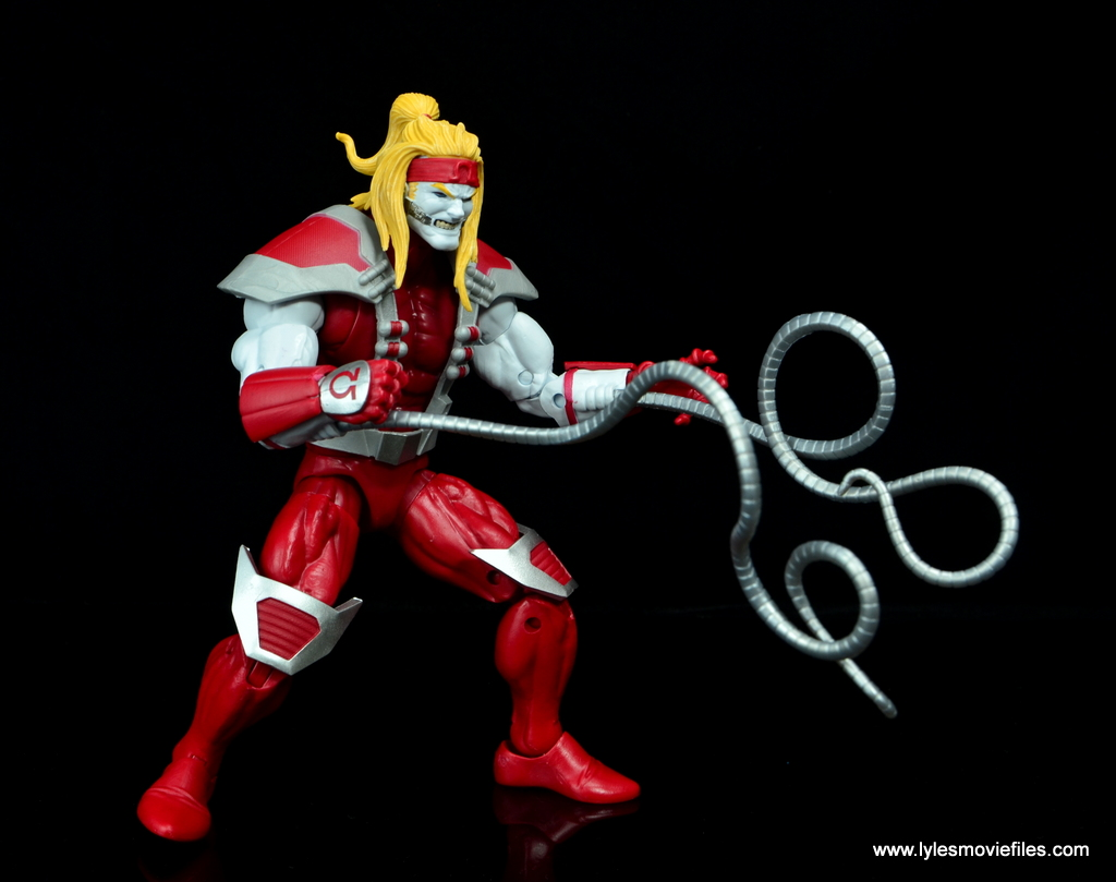 marvel legends omega red figure review - long tendrils out