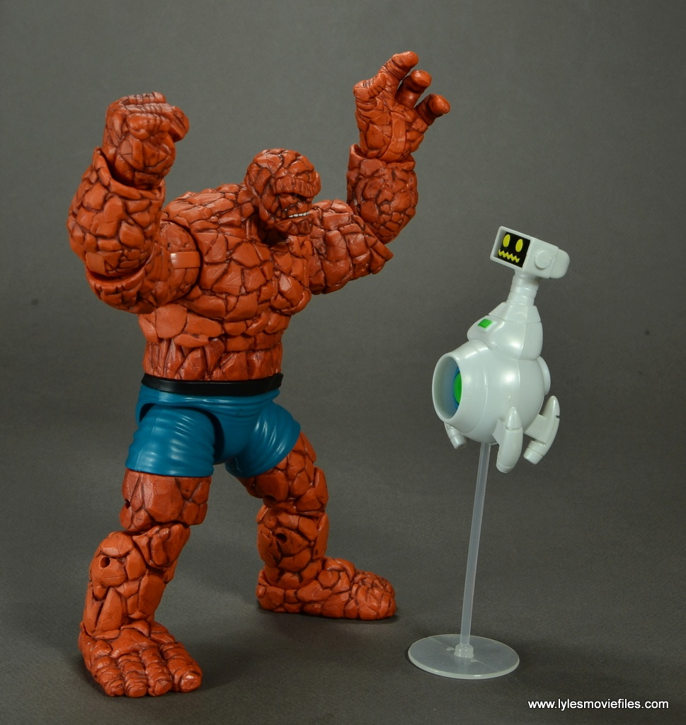 marvel legends the thing figure review - arguing with herbie