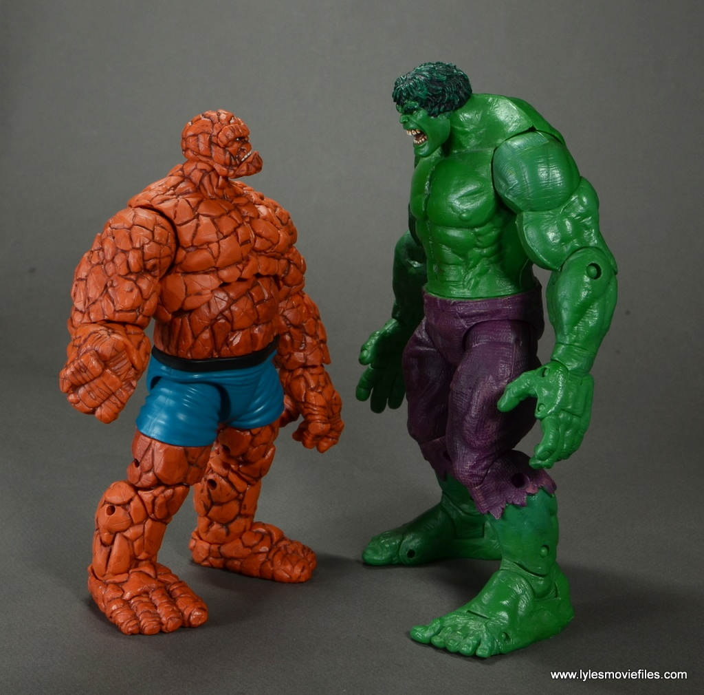 marvel legends the thing figure review - face off with the hulk